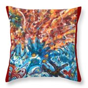 Life Ignition Mural V3 Throw Pillow