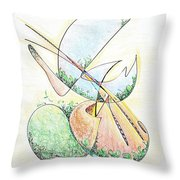 Life In A Bottle Throw Pillow