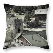 Life In A Ghost Town Throw Pillow