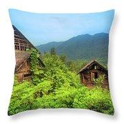 Life In A Mountains Throw Pillow