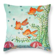Life In A Tank Throw Pillow