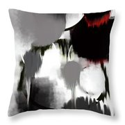Life In Black And White Throw Pillow by KR Moehr