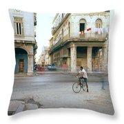 Life In Cuba Throw Pillow