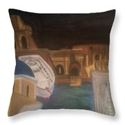 Life In Europe Throw Pillow
