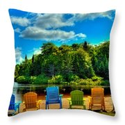 Life In The Adirondack Mountains Throw Pillow