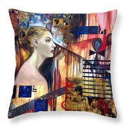 Life In The Past Throw Pillow