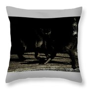 Life In The Shadows Throw Pillow
