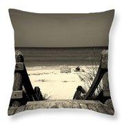 Life Is A Beach Throw Pillow by Susanne Van Hulst