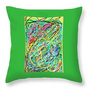 Life Is A Mess Throw Pillow