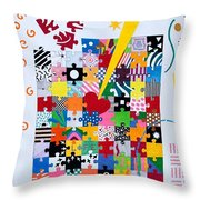 Life Is A Puzzle Throw Pillow