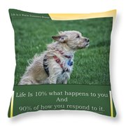 Life Is A Warm Summers Breeze Throw Pillow