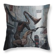Life Is  Dance In The Rain Throw Pillow