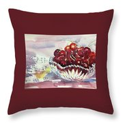 Life Is Just A Bowl Of Cherries Throw Pillow