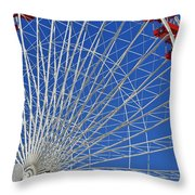 Life Is Like A Ferris Wheel Throw Pillow by Christine Till