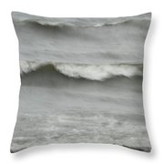 Life Is Like A Wave Throw Pillow