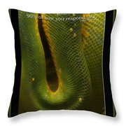 Life Is Not Curling Up And Giving Up Throw Pillow