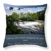 Life Is Staying Above The Debris Throw Pillow