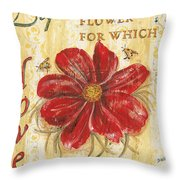 Life Is The Flower Throw Pillow by Debbie DeWitt