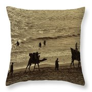 Life Near The Arabian Sea Throw Pillow