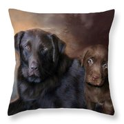 Life Of A Lab Throw Pillow