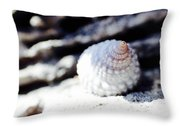Life Of A Shell In Eleuthera Throw Pillow