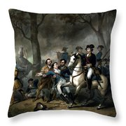 Life Of George Washington - The Soldier Throw Pillow