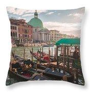 Life Of Venice - Italy Throw Pillow