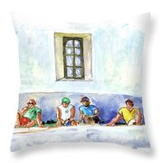 Life On Culatra Island Throw Pillow