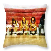 Life On The Bench Throw Pillow