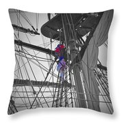 Life On The Ropes Throw Pillow