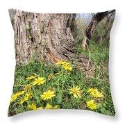 Life Under A Dead Tree Throw Pillow