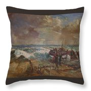 Lifeboat Launch Throw Pillow