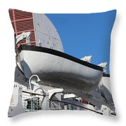 Lifeboat On Queen Mary Throw Pillow