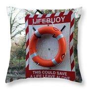 Lifebuoy Theft Throw Pillow