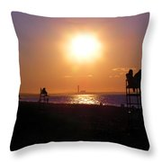 Lifeguard Chairs Throw Pillow