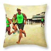 Lifeguard Runners Throw Pillow