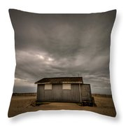 Lifeguard Shack Throw Pillow by Evelina Kremsdorf