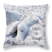 Life's A Beach By Sharon Cummings Throw Pillow