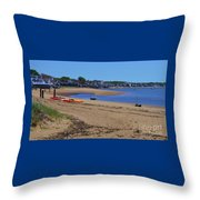 Life's A Beach In Provincetown Cape Cod Throw Pillow