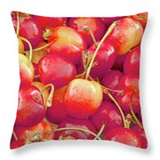 Life's A Bowl Of Cherries Throw Pillow