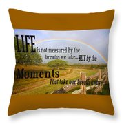 Life's Moments Throw Pillow