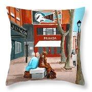 Liffey Street, Dublin Throw Pillow