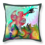 Lifting The Color Throw Pillow
