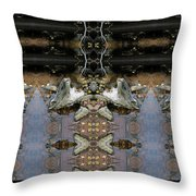 Lifting Up My Golden Eyes In Prayer Throw Pillow