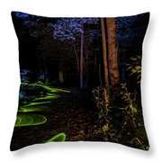 Lighit Painted Forest Scene Throw Pillow