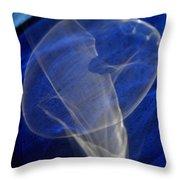 Light And Blue Disc No.106, Thu--17sep2015 Throw Pillow