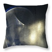 ''light And Blue Disc No.32'', Thu--10sep2015 Throw Pillow
