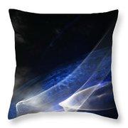 ''light And Blue Disc No.35'', Tue--22sep2015 Throw Pillow