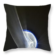 Light And Blue Disc No.50, Fri--23oct2015 Throw Pillow
