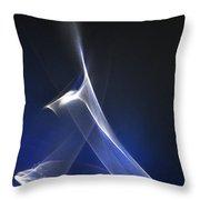 ''light And Blue Disc No.90'', Thu--17sep2015 Throw Pillow